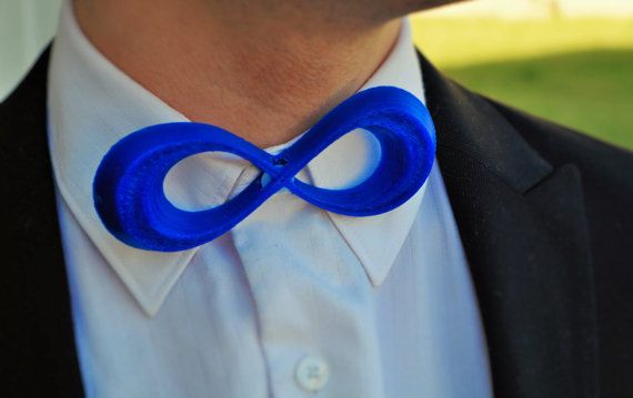 Infinity Bow Tie 3D Printed Tie Cool Bow Tie Mens by Personaties
