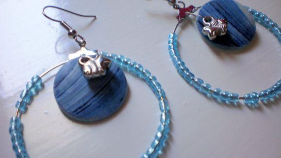small fish earrings by KaterinakiJewelry on Etsy