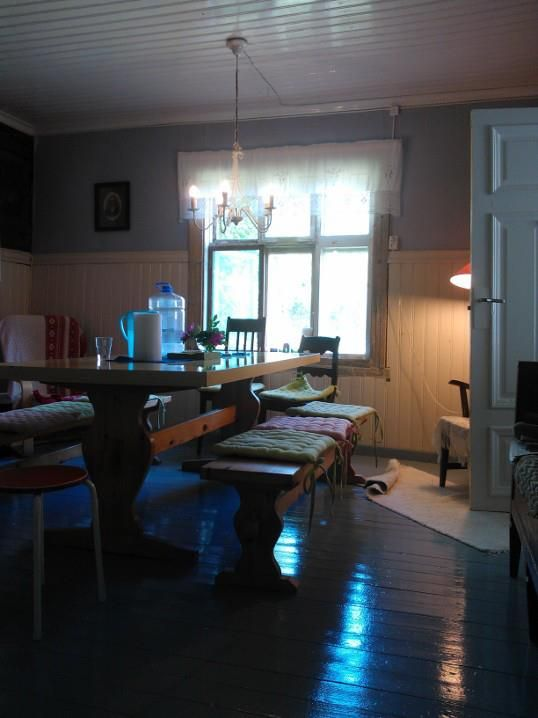 Peasant style dining table - rooms 12 diners.