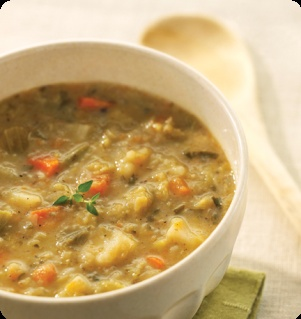 ... clam chowder, Roasted vegetable soup and Chicken vegetable soups