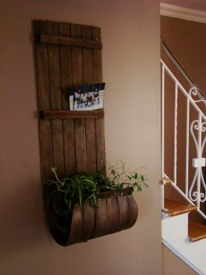 wooden sled turned wall art