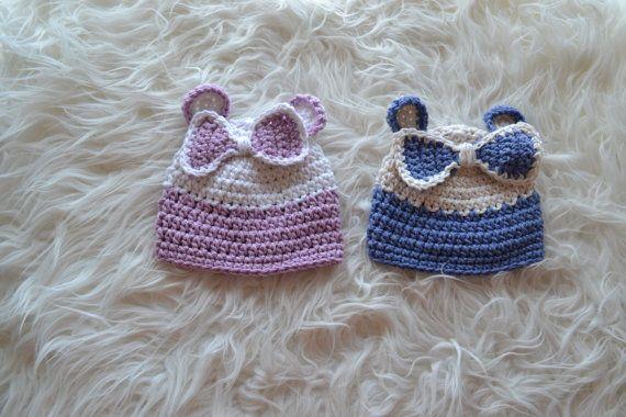 Newborn Hat Newborn Bonnet Unique Hat Unique by knitbabyclothes, $22.00