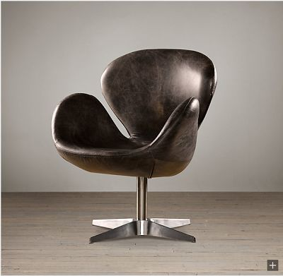 Restoration Hardware Leather And Metal Chairs Madeleine