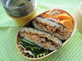 豚キムチの'おにぎらず'弁当(レシピ付き!)|レシピブログ