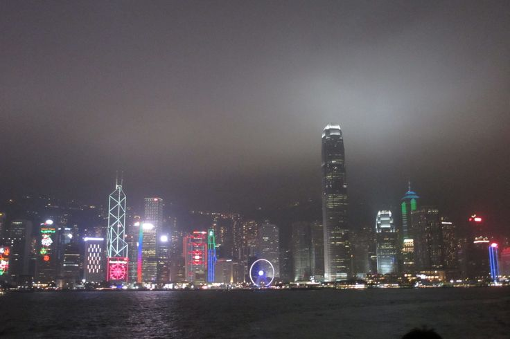 night in Hong Kong.. the lights are so pretty.. Dec 2015..