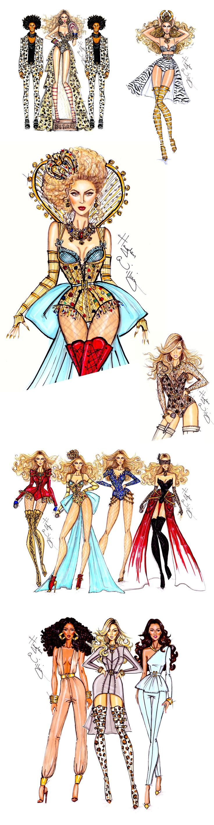Just discovered fashion illustrator Hayley Williams, cannot contain my inner fashionista! Each artwork is spot on, capturing each character's quirks, most striking features and iconic outfits...thanks to Queen Bey herself on beyonce.com for showcasing his work (shout out to the Beyhive!)