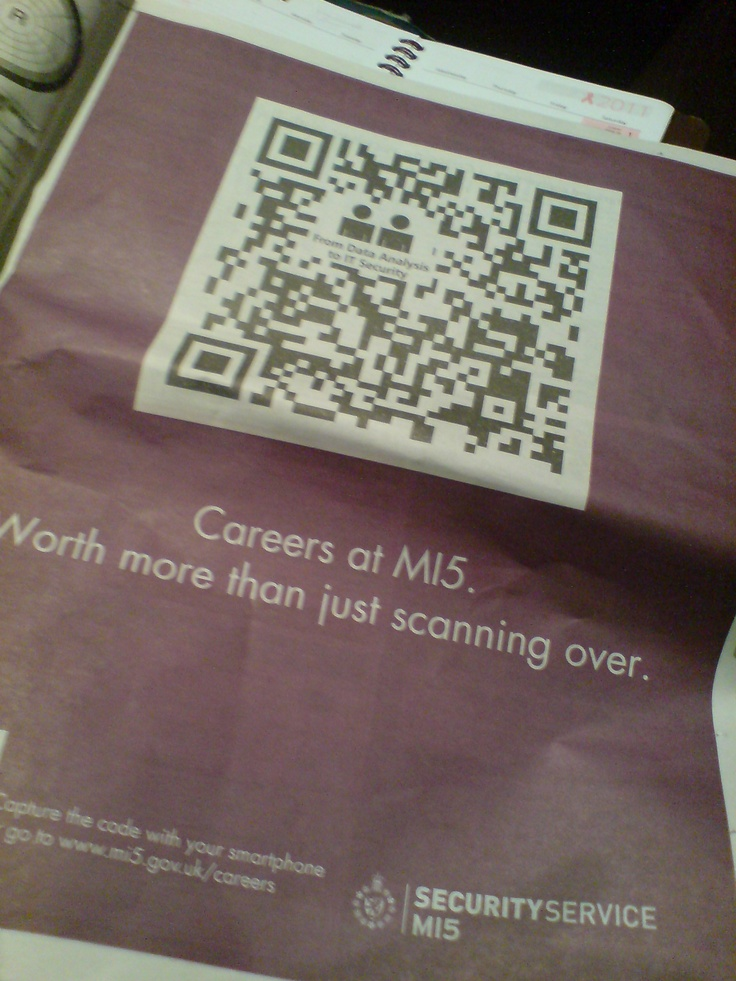british intelligence agency  mi5  using qr codes in