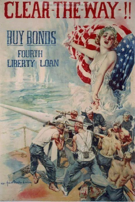 Christy, Howard Chandler (b,1872)- Clear Way- Buy Bonds, 1917 (Prop- US- WWI)