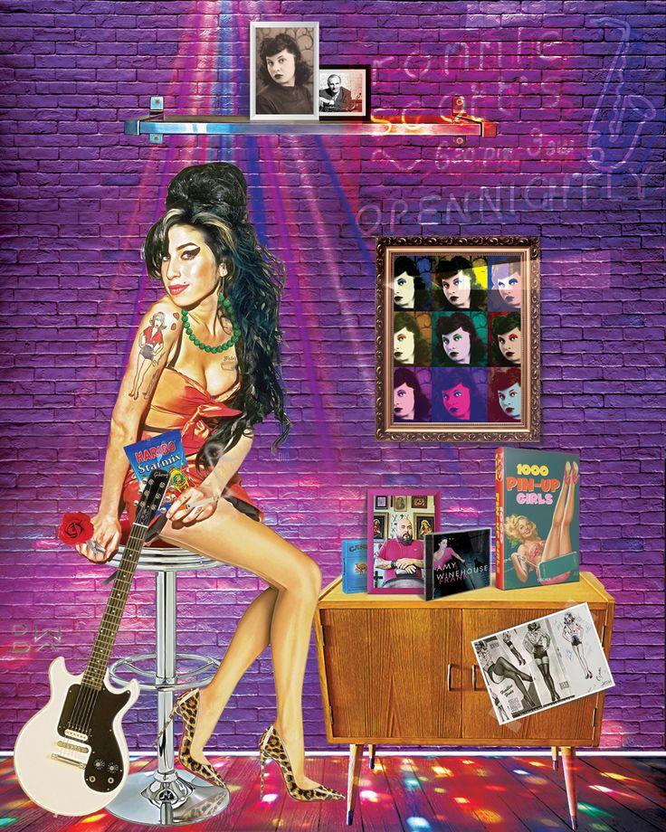 "Amy Winehouse ""Headline Honey"" #amywinehouse #amywinehouseart #popart #digitalart"