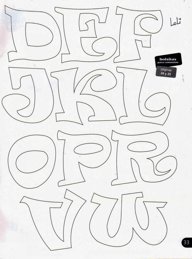 17 mejores ideas sobre Letras De Goma Eva en Pinterest | Letras en ...