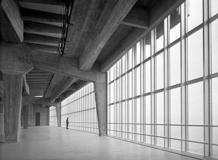 Gio Ponti, Pirelli Tower, 1953. Milano. Photo from the exhibition Giorgio Casali Fotografo. Domus 1951–1983, CIF Scavi Scaligeri di Verona, ...
