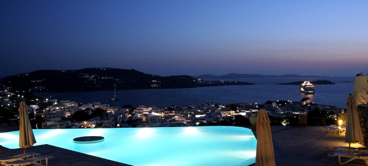 View from Vencia Boutique hotel in Mykonos