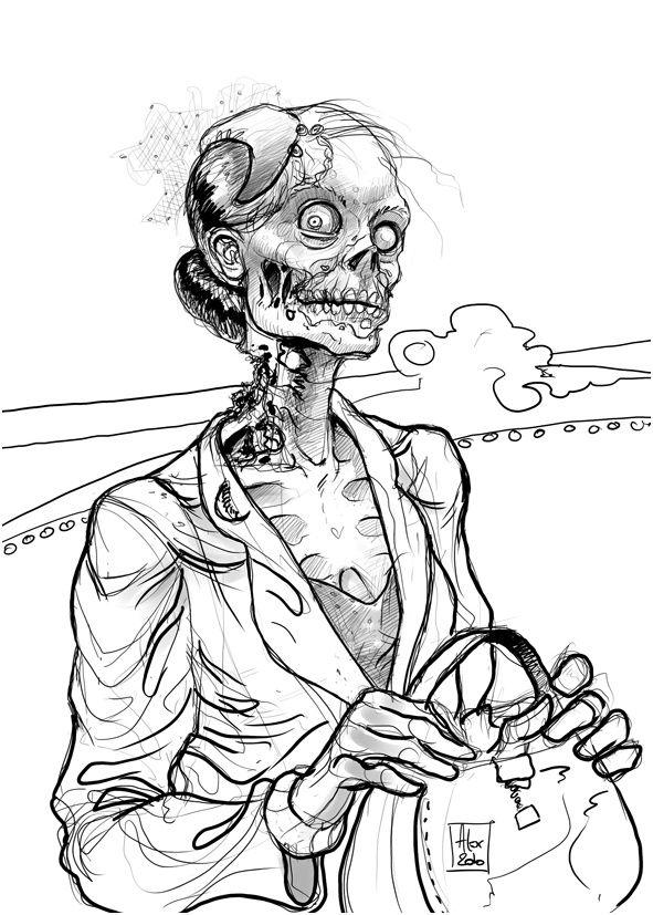 nice 16 Dessin Zombie Qui Fait Peur en 2020 Coloriage