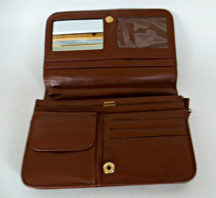 Vintage Buxton  Wallet Brown Cowhide Leather by FabulousFunFashion on Etsy