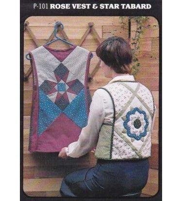 Applique Rose Vest & Star Patchwork Tabard Vintage Craft Patterns P101 Uncut