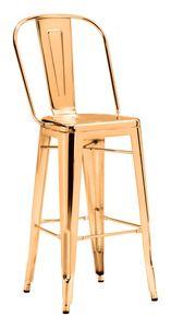ELIO BAR CHAIR GOLD #chair #gold