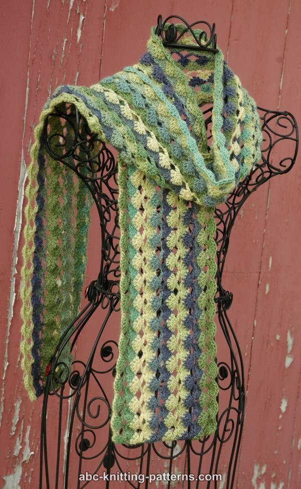 ABC Knitting Patterns - Belle Epoque Scarf