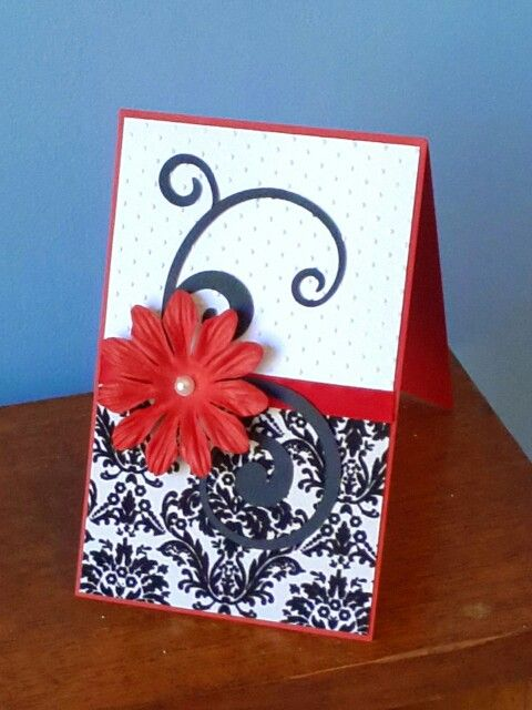 Red and black congratulations card