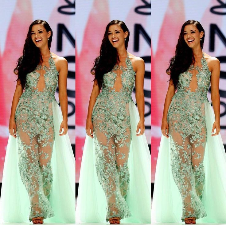 Demi-Leigh Nel-Peters wore this custom mint green illusion embroidered gown designed by Anel Botha when she won the title of Miss South Africa 2017! She will compete for the title of Miss Universe 2017.  The Color  I love the simplicity of an illusion embroidered gown. It makes the overall look emanate a sense of freshness and regality.  I especially love the unique color of this gown. Mint green is an immensely unpopular color choice for evening gowns and I like that Demi-Leigh took the…