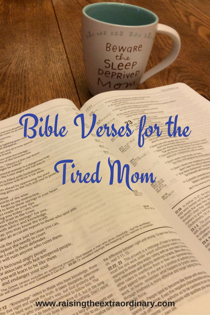 Bible Verses for the Tired Mom