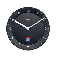 Braun - Analoge Funkwanduhr BNC006, schwarz Schwarz T:20 H:3 B:20