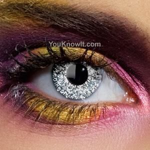 I found 'Colour Vision Glimmer Silver Contact Lenses (Pair)' on Wish, check it…