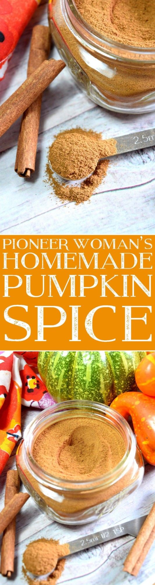 Pioneer Woman's Homemade Pumpkin Spice - easy at-home mix of your favourite fall seasonings!