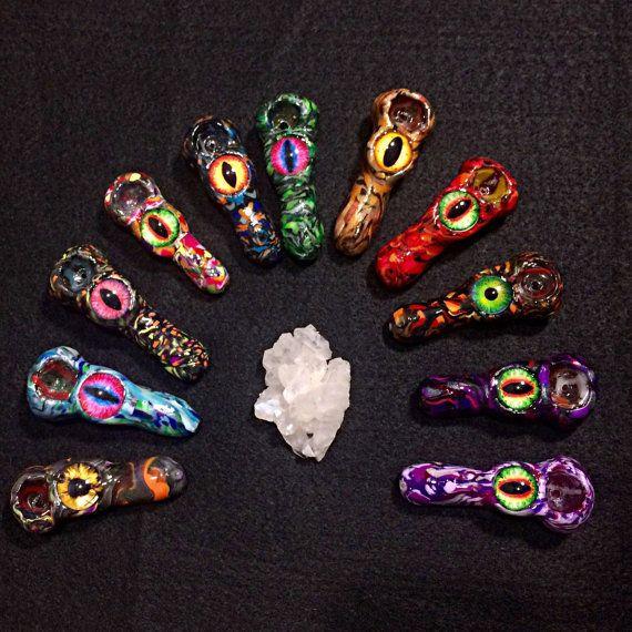 Crazy Glass Pipes | Custom Mini Crazy Eye Pipe tobbaco Smoking clay pipe