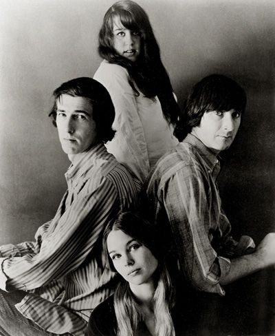 """The Mamas and the Papas were an American folk rock vocal group that recorded and performed from 1965 to 1968, reuniting briefly in 1971. The group comprised John Phillips (1935–2001), Canadian Denny Doherty (1940–2007), Cass Elliot (1941–1974), and Michelle Phillips née Gilliam (b. 1944). Their sound was based on four-voice two-part vocal harmonies arranged by songwriter and leader, John Phillips, an innovator who adapted folk to the new """"beat"""" style of the early sixties."""