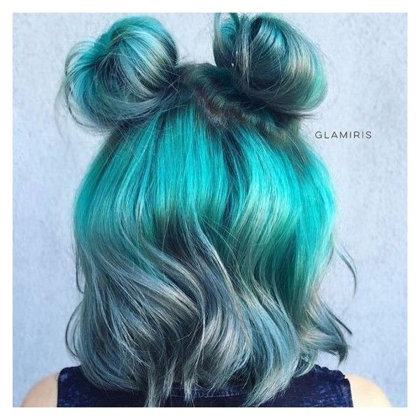 (15) Say Hello To The New Instagram Trend : Two Buns Hairstyle |... ❤ liked on Polyvore featuring hair