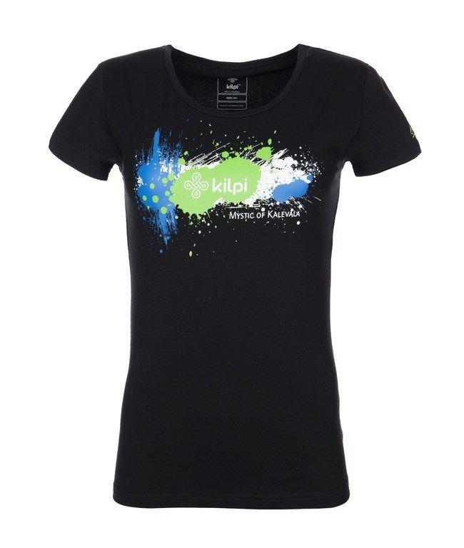 Women's T-shirt KILPI - TYPO - black