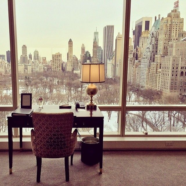 Afternoon view of Central Park at Trump New York (at Trump Hotel) #winter #centralpark