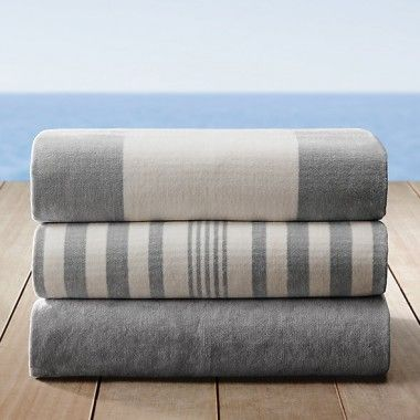 Grey and White Subtle Beach Towels Wholesale