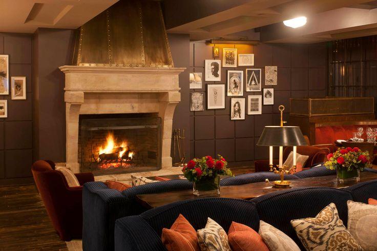 Sohohouse Fireplace Interior Design Living Room Small Small House Living Room Small House Living