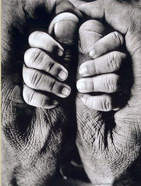 Grandfather and child. Hands. This kind of photographs are so cherished.
