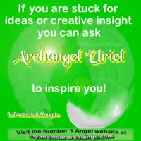 "∆ Archangel Uriel...Name meaning: ""God is light"" Helps us with ideas and inspiration, and is considered one of the wisest Archangels because of his intellectual information, practical solutions and creative insight, but he is very subtle. You may not even realize he has answered your prayer for help until you've suddenly come up with a brilliant new idea. Crystal affinity: Amber."