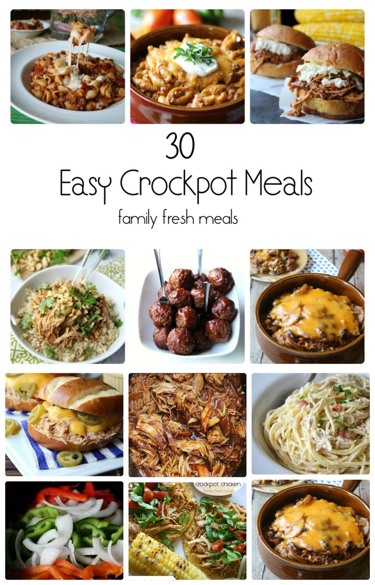 30 EASY crockpot meals the family LOVES! Tons a great reviews on these recipe too.