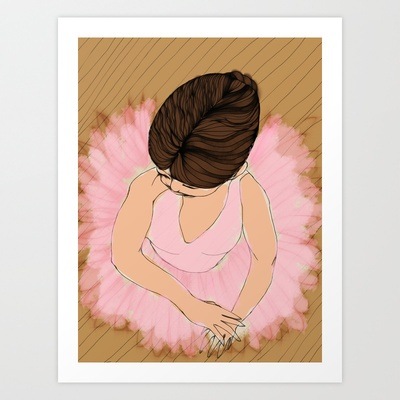 Ballerina Art Print by musicgeekstress - $20.00