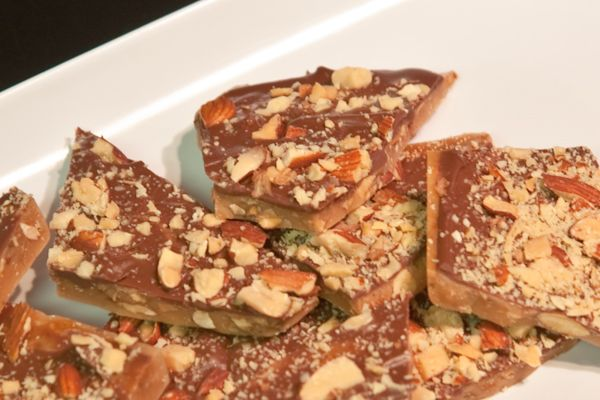 """ALMOND ROCA RECIPE - """"almond roca"""" is a very popular candy on Guam...here is a very easy and delicious recipe, better than what you will buy at the store"""