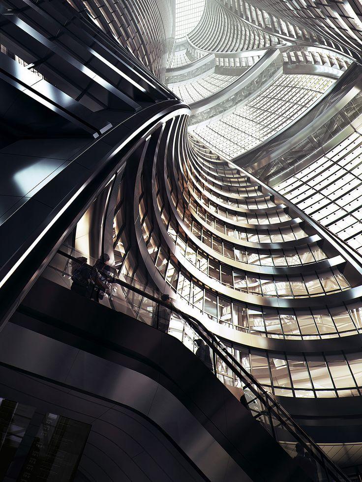 Leeza SOHO | Zaha Hadid Architects; Rendering: MIR | Archinect
