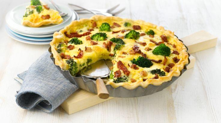 Oppskrift på Pai med brokkoli og bacon