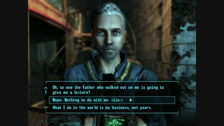 Fallout 3 Dad knew I blew up Megaton