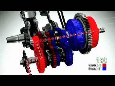 Honda DCT Dual Clutch Transmission animation