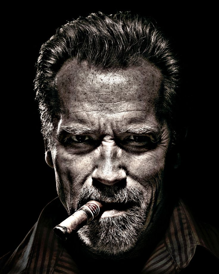 An old portrait of the actor #arnoldschwarzenegger it is a #Star of #Hollywood in films of action ...
