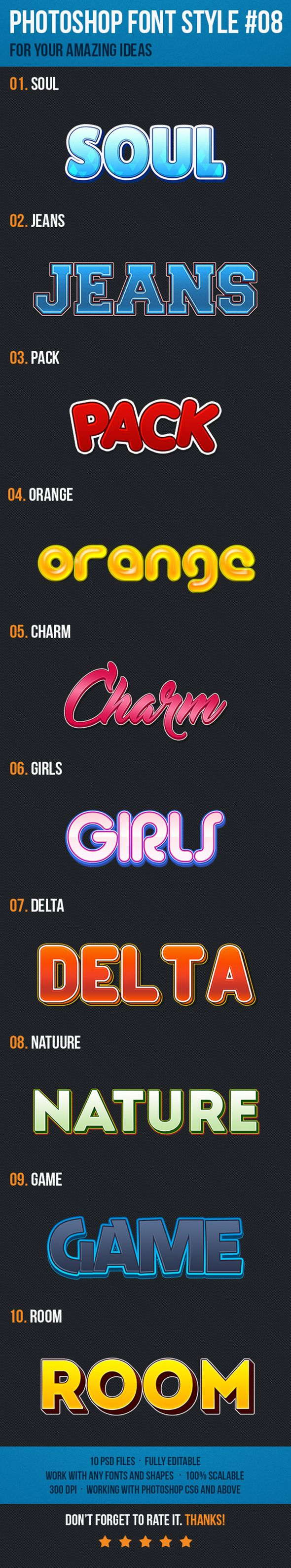 10 Font Style for Game Logo. Download here: http://graphicriver.net/item/10-font-style-for-game-logo-08/15504618?ref=ksioks