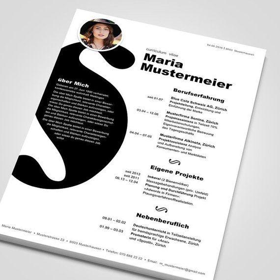 Curriculum vitae Maria by nilaatwork on Etsy Portfolio Web, Portfolio Design, Resume Design Template, Cv Template, Design Social, Web Design, Modern Graphic Design, Graphic Design Inspiration, Cv Original Design