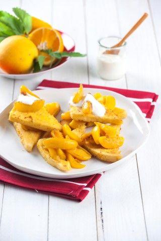 Torrada francesa de laranja e pêssego TeleCulinária 1866 - 12 de Janeiro 2015 - Disponível em formato digital: www.magzter.com Visite-nos em www.teleculinaria.pt