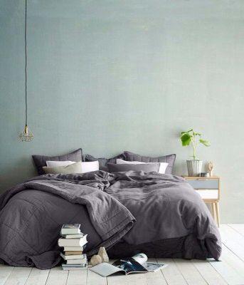 Slaapkamer kleur Flexa Early Dew/Donkergrijs