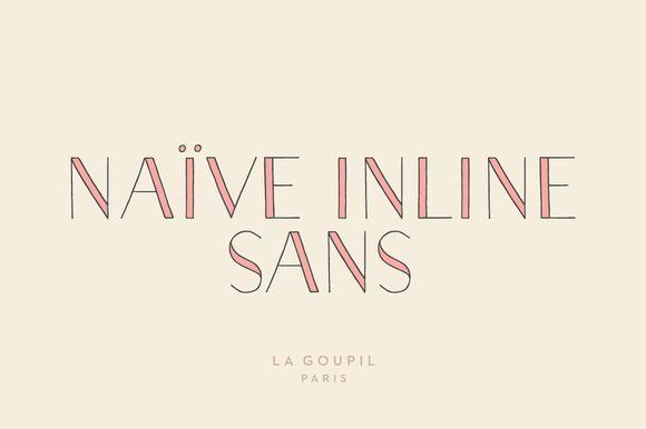Naive Inline Sans Font Pack by La Goupil Paris on @creativemarket