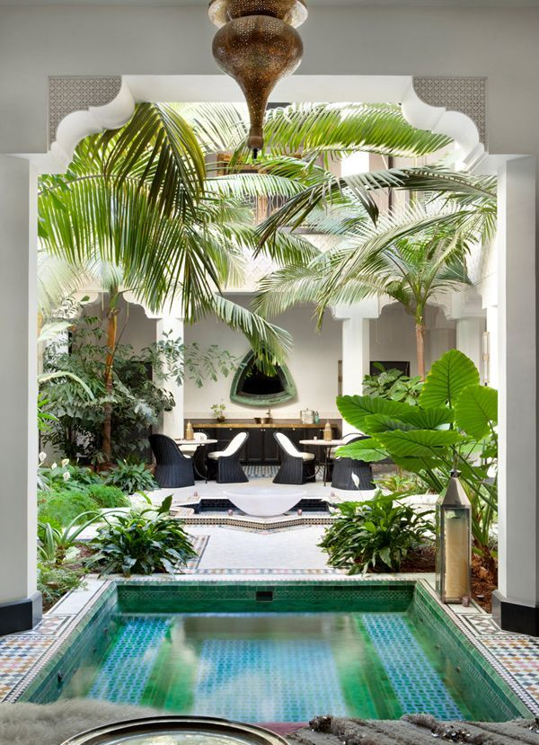 Casbah Cove: Luxury Moroccan riad in Palm Desert Tropical Home :: Paradise Style :: Living Space :: Dream Home :: Interior + Outdoor :: Decor + Design :: Free your Wild :: See more Tropical Island Home Style Inspiration @untamedorganica